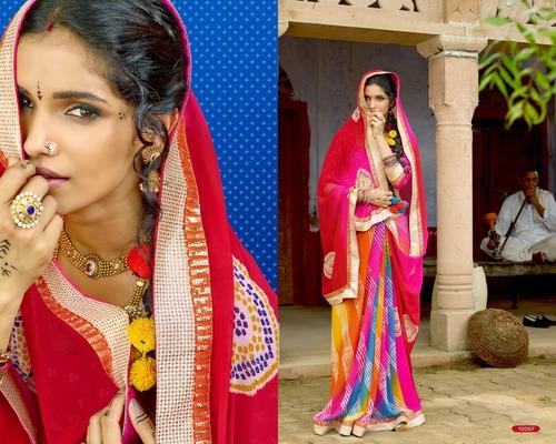 Multi-Color Chiffon Saree