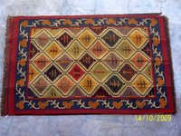 Wool Jute Kilim Multi color Handwoven Rajasthani Dhurrie