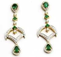 Diamond Gold Long Earrings Manufacturer
