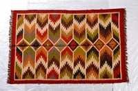 Kilim Jute Wool Rug In Vibrant Colors With Fringes, Best Jute Rugs In Jaipur