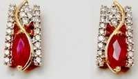 18K Gold Gemstone Stud Earrings Designs