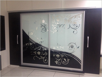 Glass Wardrobe Shutter
