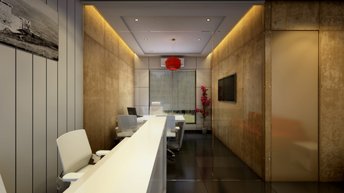Single Office Designe 3 d View