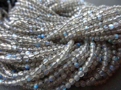 13 Inch Labardorite  4-5mm smooth round beads gemstone best quality