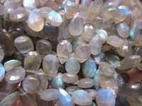 7 Inch Labradorite  Faceted Almond  Beads gemstone