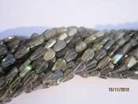13 inch labradorite pear shape gemstone beads