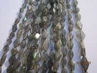 13 inch labradorite 5x8mm to 4x7mm diamond shape gemstone beads