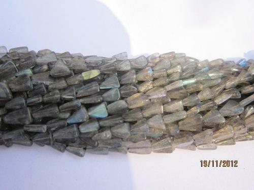 13 inch labradoritel triangle shape gemstone beads