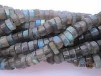 13 inch labradorite 4mm-5mm faceted cutting tyre gemstone beads