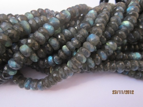 aaa+++7 inch labradorite 7mm-8mm machine cut faceted roundell beads gemstone