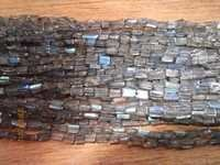 13inch  labradorite 4-5mm cube gemstone beads