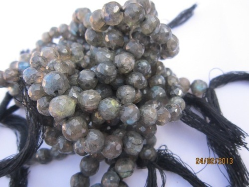 8 inch labradorite 7mm-8mm machine cut Faceted round beads gemstone