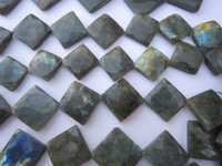 7 inch Labaradorite faceted square beads gemstone 20x27mm