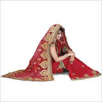 Bridal Wedding Maroon Dupatta