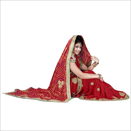 Bridal Dupatta With Gotta Work