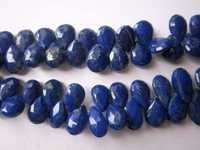 7x10mm to 7x13mm Lapis Faceted Almond beads gemstone 7inch