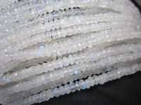 13 inch rainbow moonstone faceted 6-7mm roundell  beads one strand