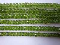5mm-6mm Peridot Faceted Roundell beads gemstone 7inch