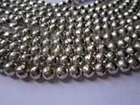 6mm Silver pyrite Faceted Round beads gemstone 8inch