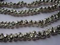 6mm-7mm Silver pyrite Faceted Onion beads gemstone 8inch