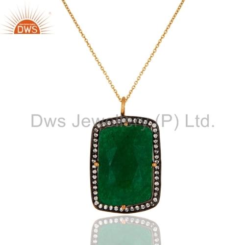 Green Aventurine 925 Silver Pendant