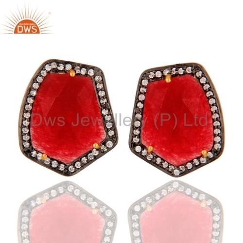 Red Aventurine Sterling Silver Earrings Jewelry