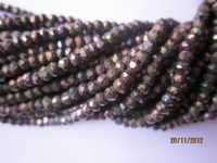 13 INCH PINK COATED SPINEL 3MM-4MM MACHINE CUT RONDELL GEMSTONE BEADS