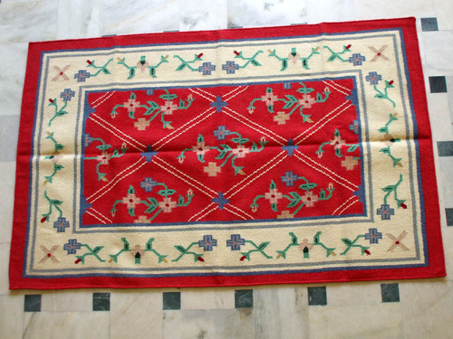 Traditional Cotton Woolen Rugs