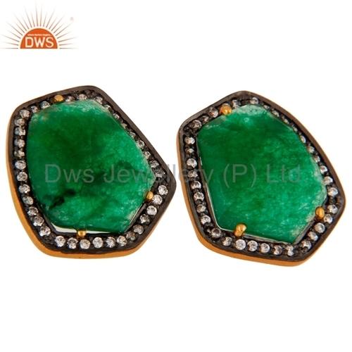 Green Aventurine Silver Earrings