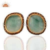 Emerald Diamond Pave Earring