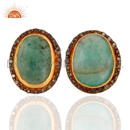 Sterling Silver Diamond Pave Earrings
