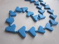 18 inch turquoise plain fncy shape beadednecklace
