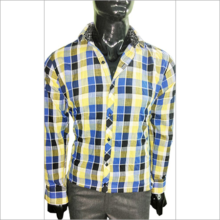 Light Yellow & Blue Shirt