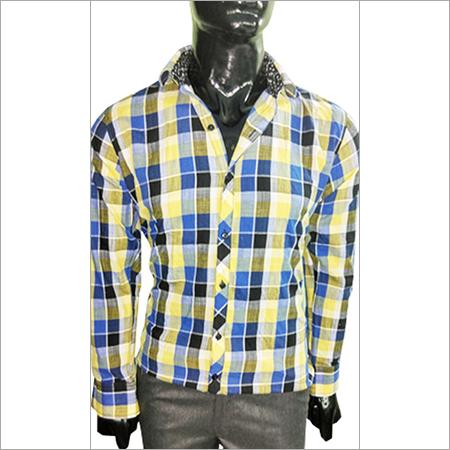 Light Yellow & Blue Shirt