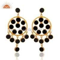 Sterling Silver Black Onyx Earring