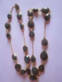 24pcs. labradorite gold vermiel connectors chain Approx 200cts.