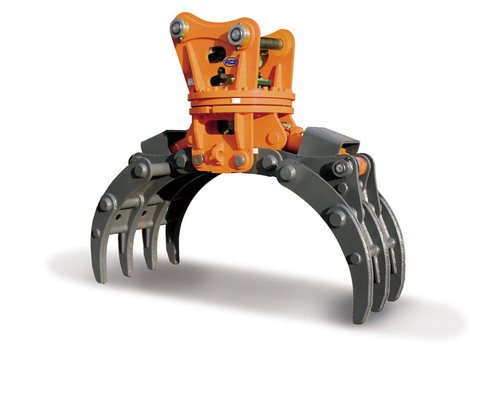 Wood Grab Excavator Attachment