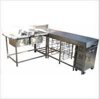 2 Sink Dish Loading Table