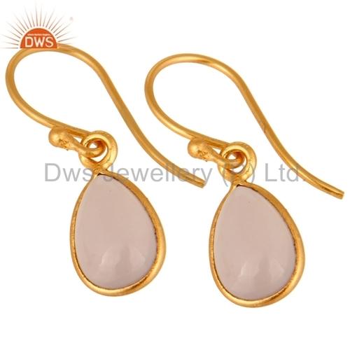 Silver Rose Chalcedony Earring Jewelry