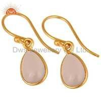 Silver Rose Chalcedony Earring Jewelry
