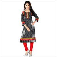Trendy Black Cotton Kurti