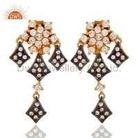 Cubic Zirconia Cz 925 Silver Earrings