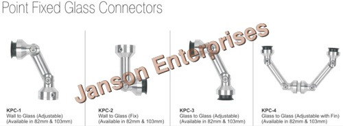 Point Fixed Glass Connectors