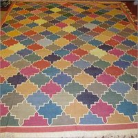 Cotton Kilim Handwoven Punja Durrie rugs