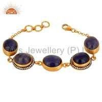 Gold Plated Silver 925 Tanzanite Bracelet