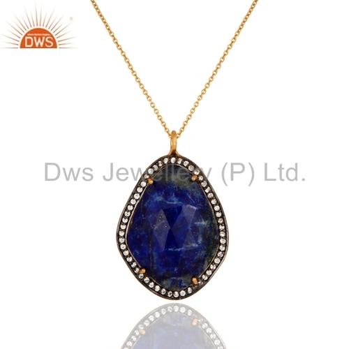 Gold Vermeil 925 Silver Lapis Lazuli Pendant