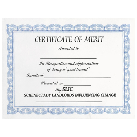 Award Certificate Printing Services