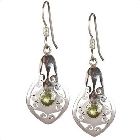 Sterling Peridot Silver Earrings