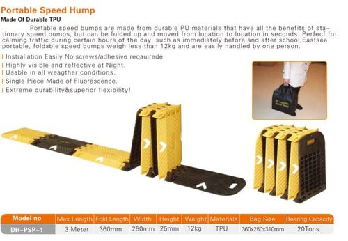 Portable rubber Speed Breaker