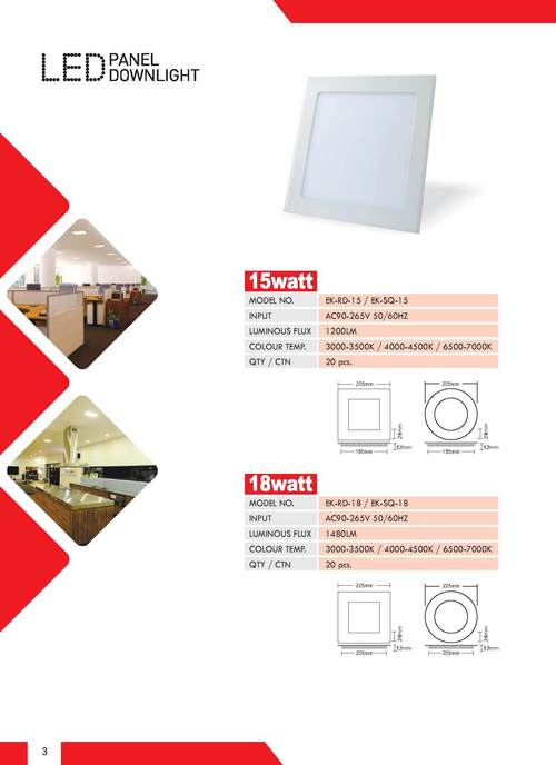 15W LED Panel Downlight